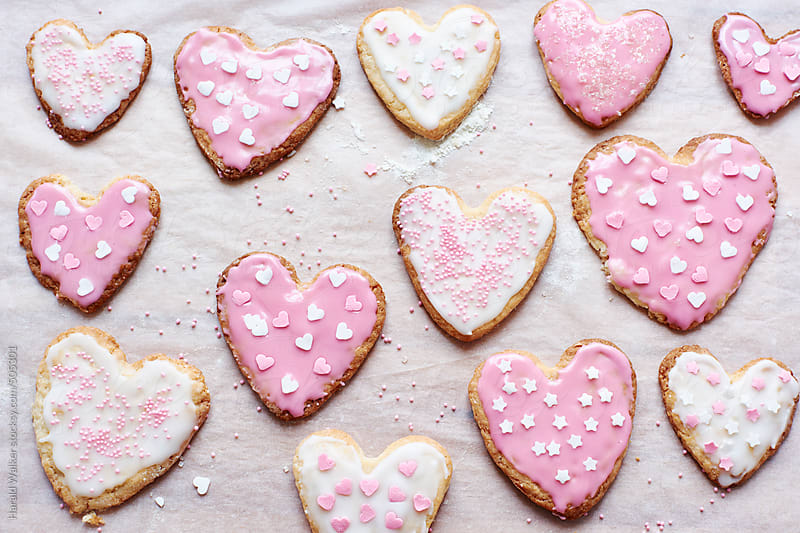 Cookies with a heart by Harald Walker for Stocksy United