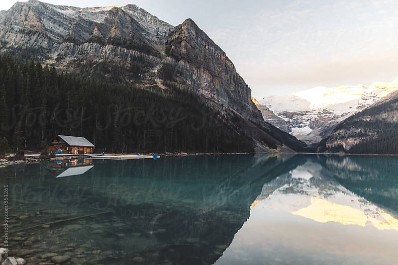 Beautiful Morning Autumn Light at Lake Louise by Jake Elko for Stocksy United