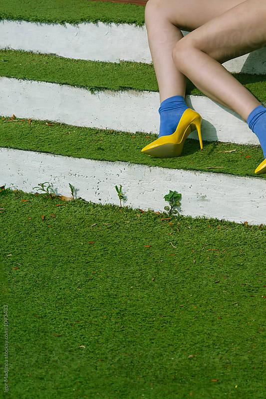 fashion,food,summer,colorful, urban girl on summer vacation