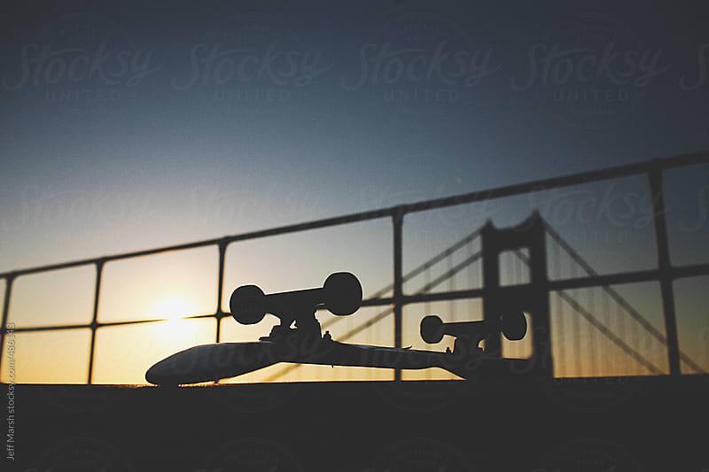 Skateboard in Sunset by Jeff Marsh for Stocksy United
