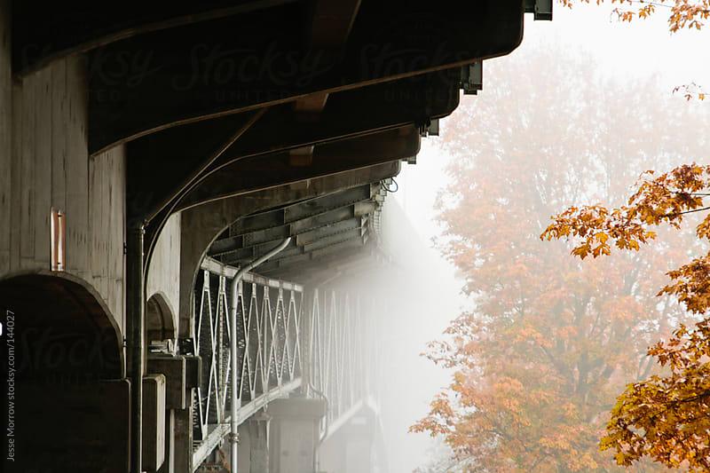 Seattle Bridge in the fog by Jesse Morrow for Stocksy United