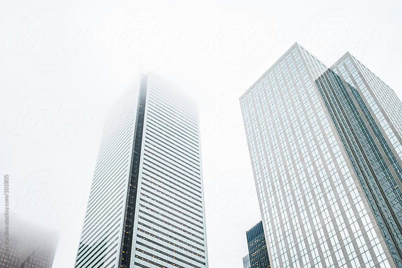 Skyscraper from a big financial area in Toronto by Javier Pardina for Stocksy United
