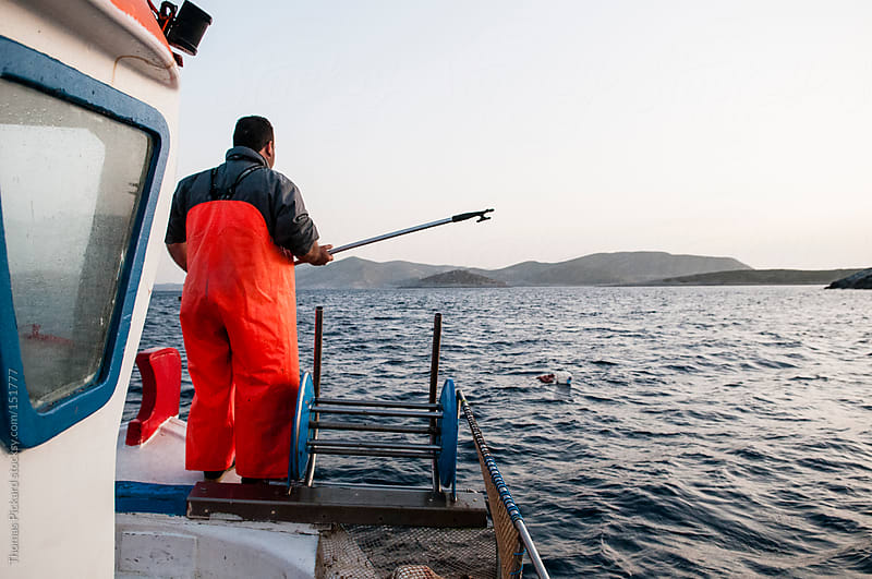Commercial fisherman, Fourni Islands, Aegean Sea, Greece. by Thomas Pickard Photography Ltd. for Stocksy United
