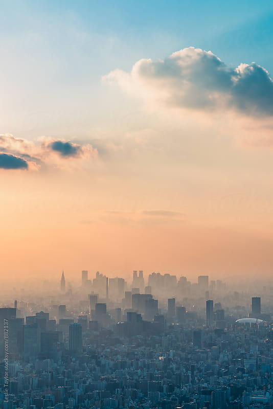 Late Afternoon Over Tokyo by Leslie Taylor for Stocksy United