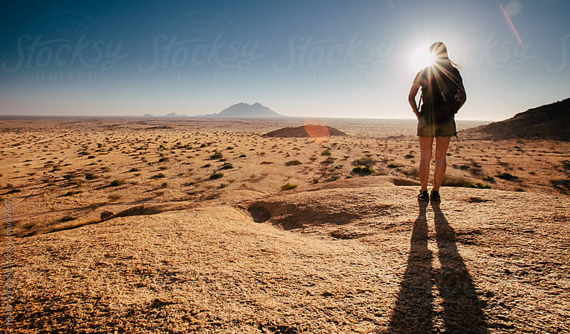 Female hiker enjoying the view by Micky Wiswedel for Stocksy United