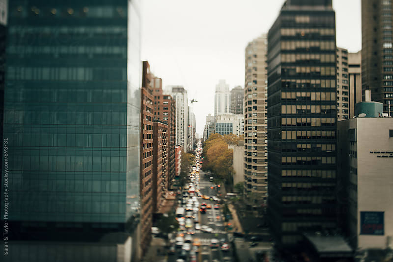 City Landscape with traffic by Isaiah & Taylor Photography for Stocksy United