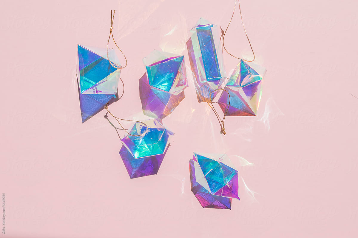 iridescent christmas ornaments by alita ong for stocksy united