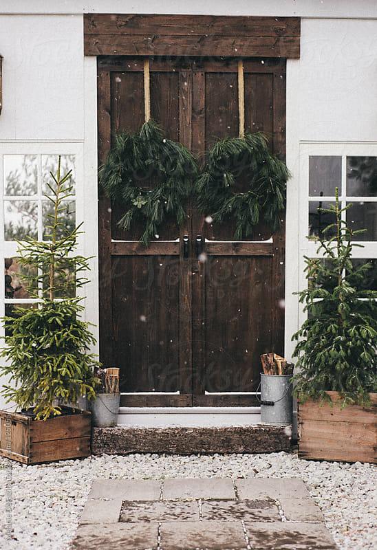 Holiday Wreaths by Melanie DeFazio for Stocksy United