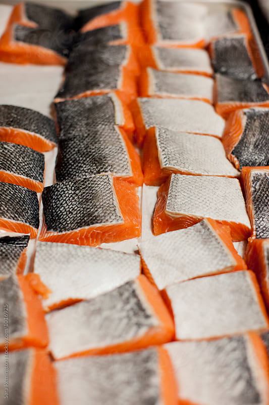 Fresh Organic Raw Salmon Ready For The Grill by Sara Remington for Stocksy United