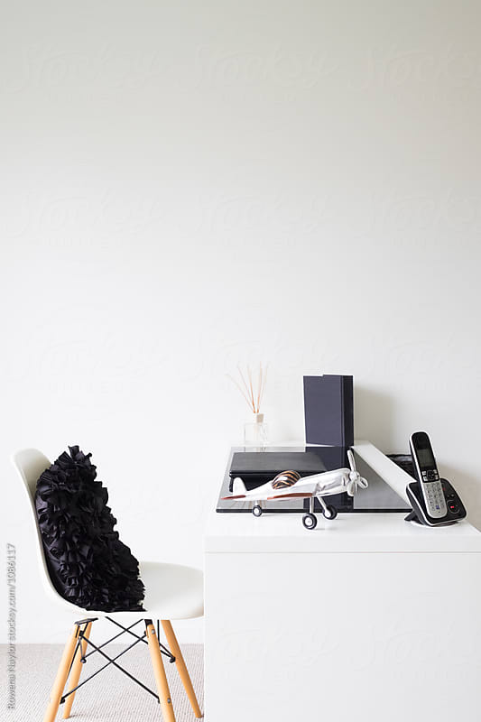Minimalist home study by Rowena Naylor for Stocksy United