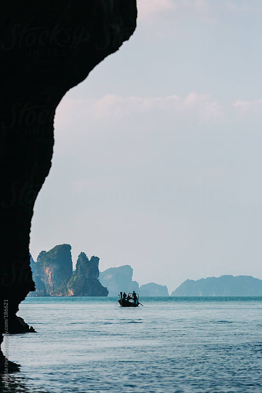 Fhishing boat in the Andaman sea by michela ravasio for Stocksy United
