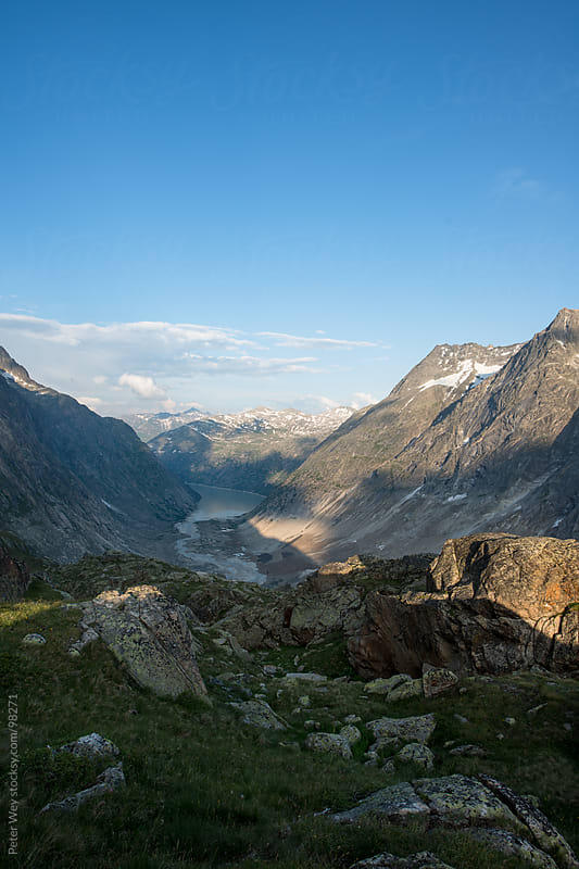 Mountain panorama from Lauteraar mountain hut by Peter Wey for Stocksy United