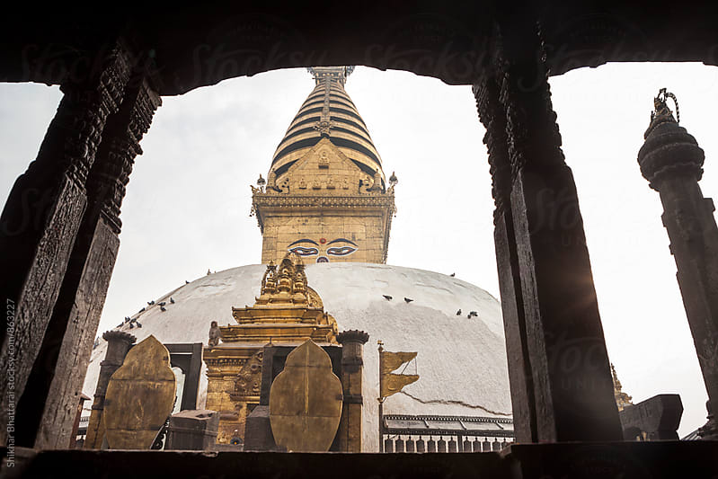 Swayambhunath Stupa, Kathmandu Valley, Nepal. by Shikhar Bhattarai for Stocksy United