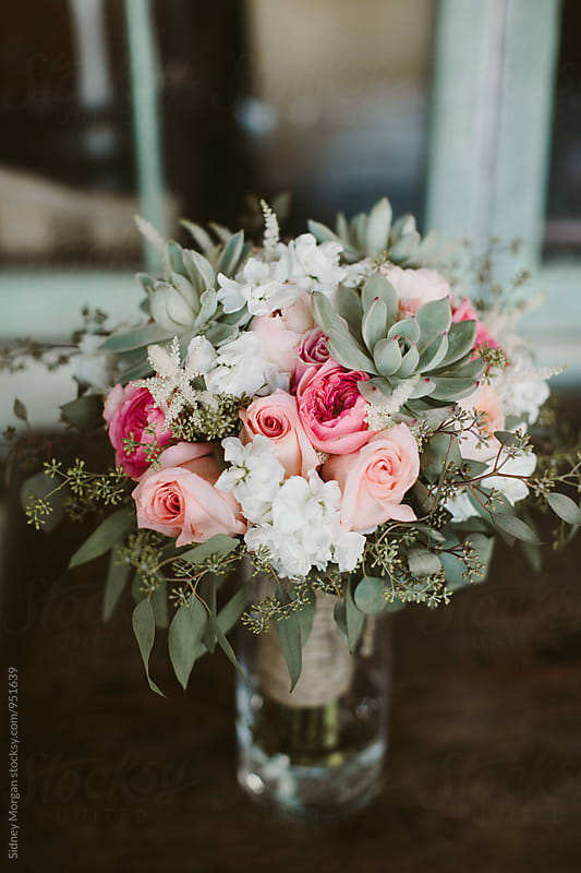 Pink Wedding Bouquet  by Sidney Morgan for Stocksy United