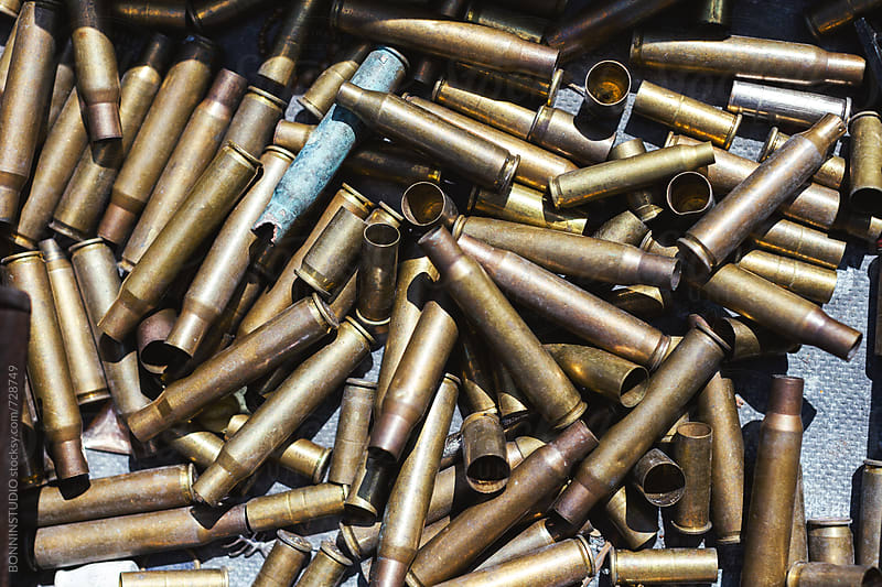 Overhead of a hunting bullets.  by BONNINSTUDIO for Stocksy United