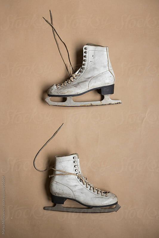 Old retro ice skates by Marko Milovanović for Stocksy United