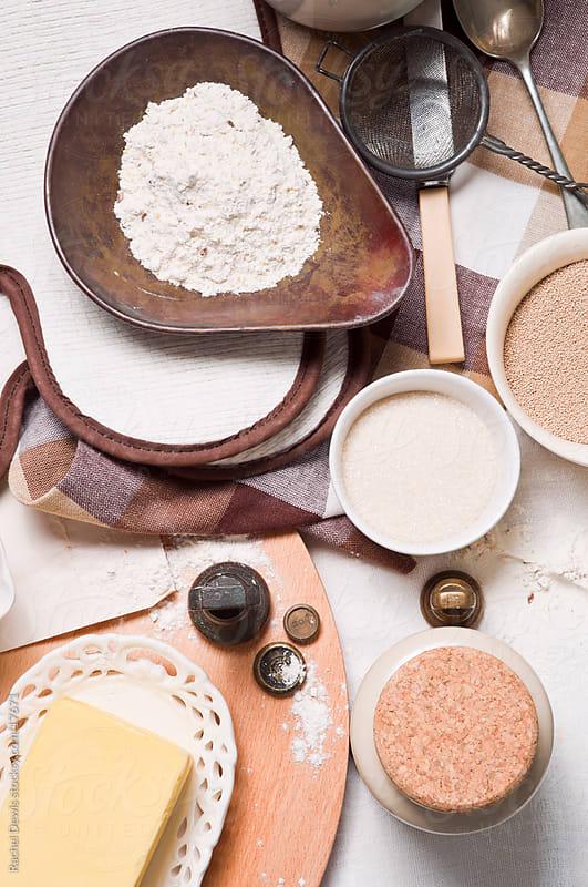 Making bread. by Rachel Dewis for Stocksy United