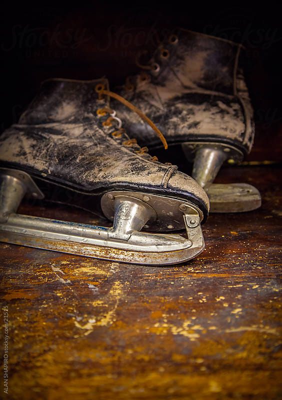 Rusting ice skates by ALAN SHAPIRO for Stocksy United