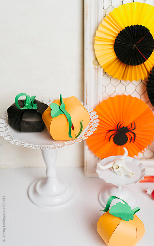 Close up Halloween craft by Alita Ong for Stocksy United