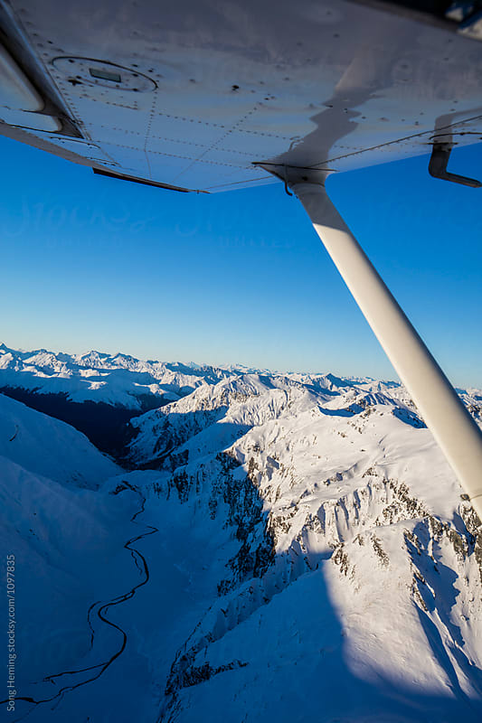 Beautiful aerial view of  mount Aspiring by Song Heming for Stocksy United