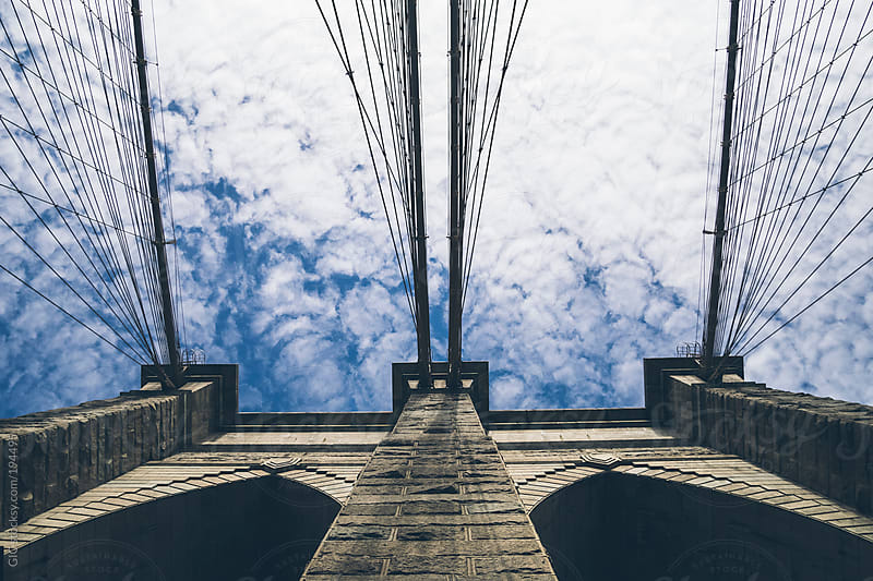 Details of Brooklyn Bridge in New York city by GIC for Stocksy United
