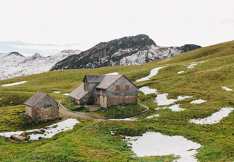 Cabin, Switzerland by Kevin Faingnaert for Stocksy United