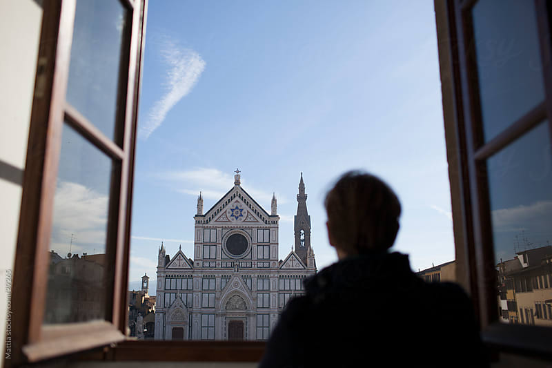 Man Visiting Florence Italy by HEX. for Stocksy United