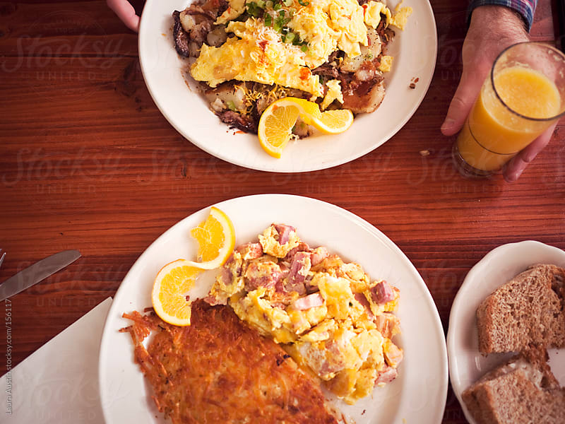 Breakfast Plates At A Diner by Laura Austin for Stocksy United