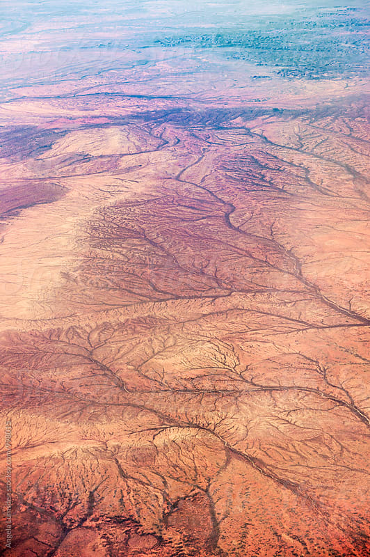 Aerial view of outback Western Australia  by Angela Lumsden for Stocksy United