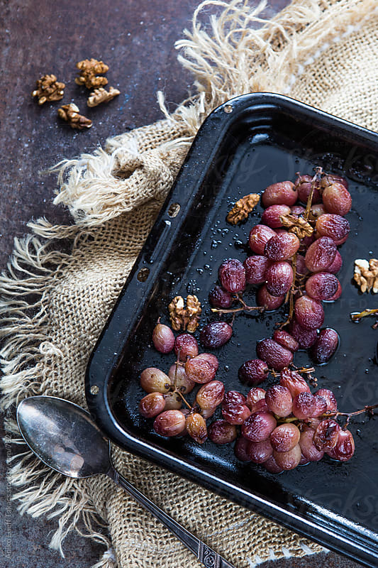 Roasted grapes by Aniko Lueff Takacs for Stocksy United