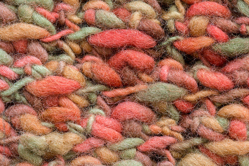 Warm color wool pattern macro by Pixel Stories for Stocksy United