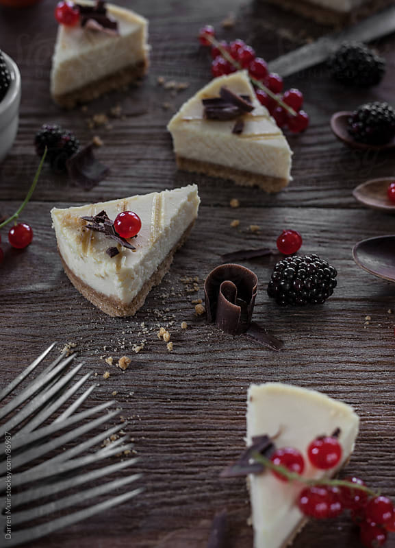 Vanilla cheesecake. by Darren Muir for Stocksy United