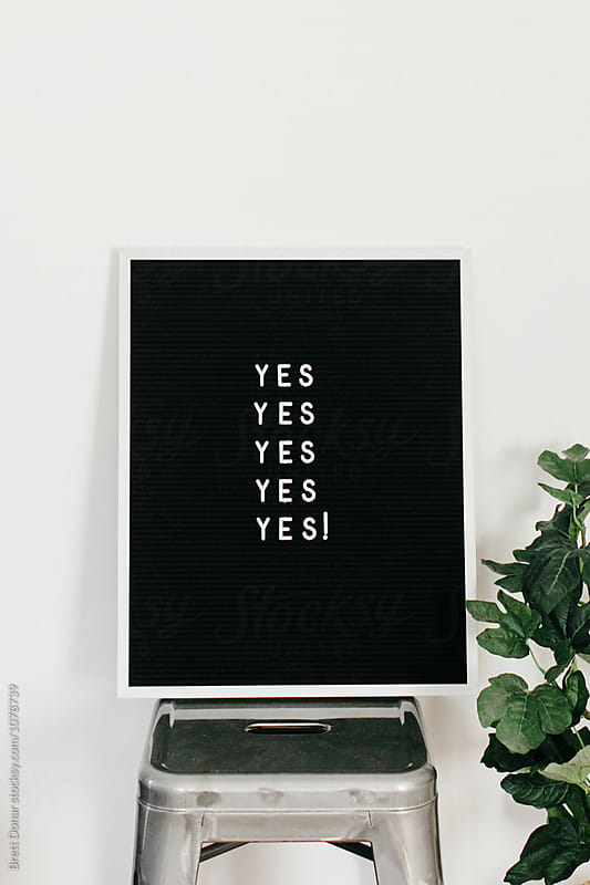 Yes by Brett Donar for Stocksy United