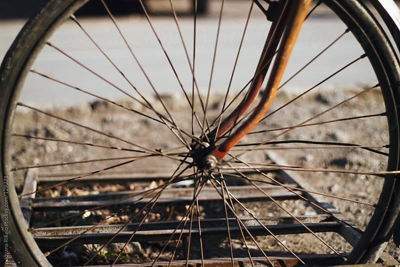 Look trough bicycle tire by Jovana Rikalo for Stocksy United
