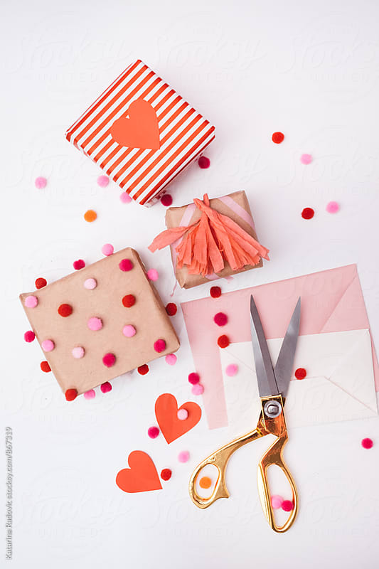 DIY Valentine's Wrapping Ideas by Katarina Radovic for Stocksy United