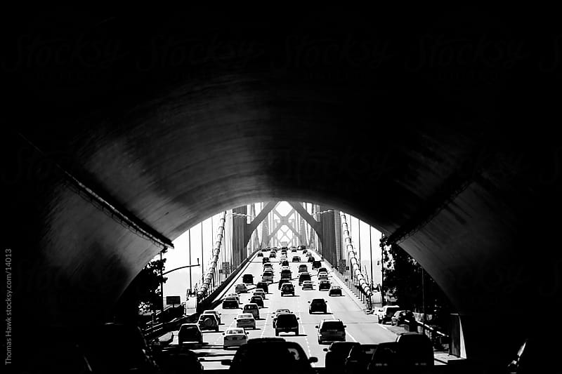 Tunnel leading to western span of the Bay Bridge by Thomas Hawk for Stocksy United