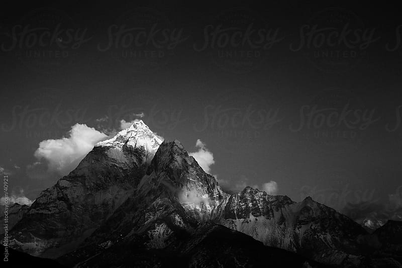 Sunset over Ama Dablam, Himalayas, Nepal by Dejan Ristovski for Stocksy United