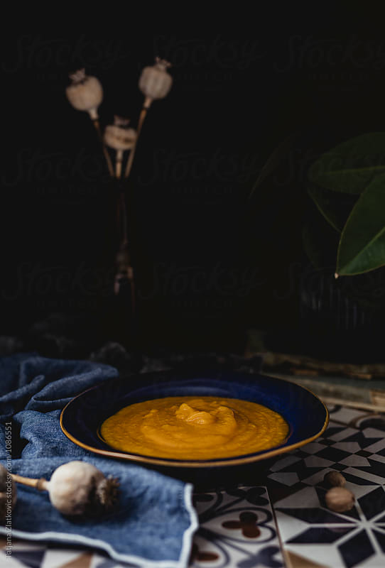Pumpkin soup by Tatjana Zlatkovic for Stocksy United