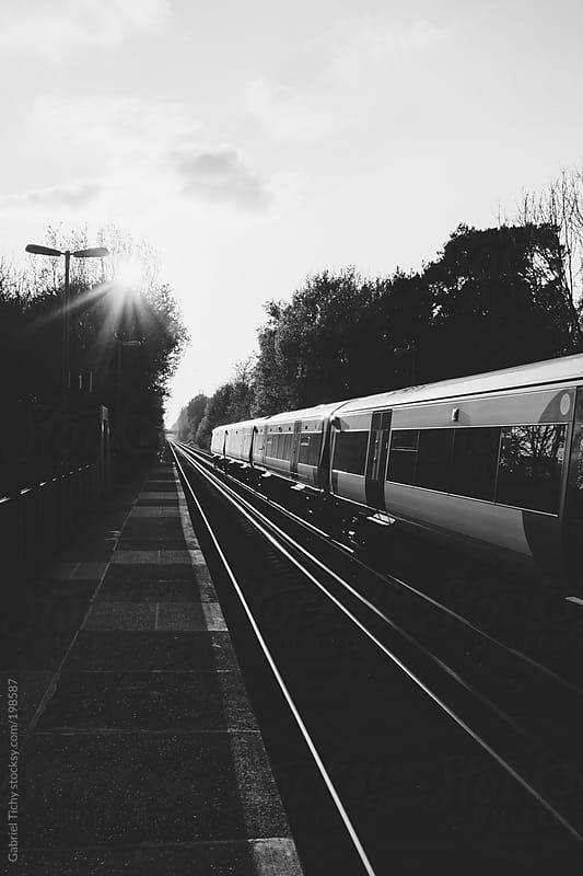Platform in rural train station by Gabriel Tichy for Stocksy United