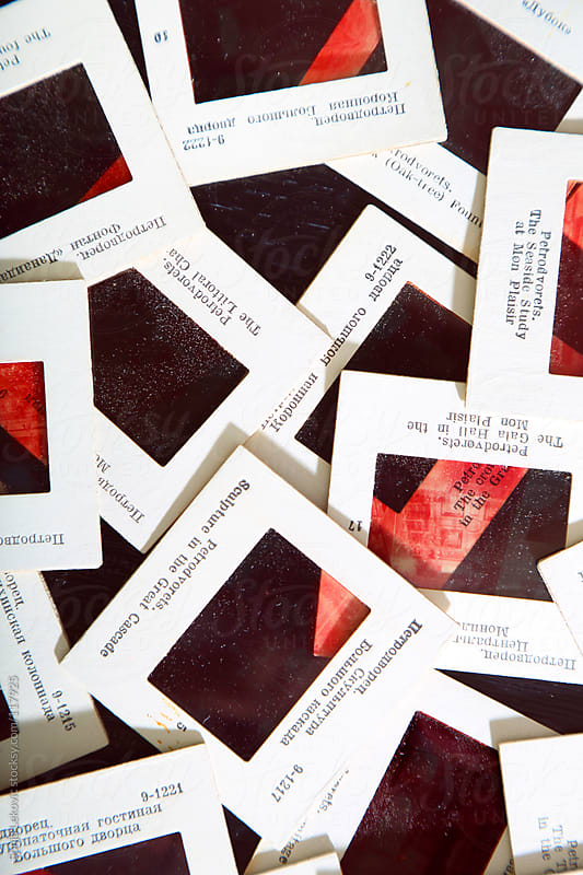 a bunch of vintage 35mm film slides by Sonja Lekovic for Stocksy United
