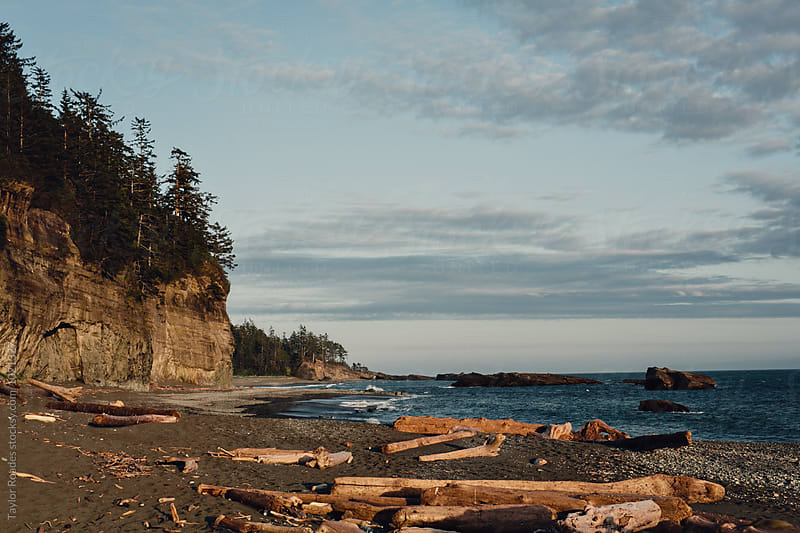 Sunset on the Pacific Ocean by Taylor Roades for Stocksy United