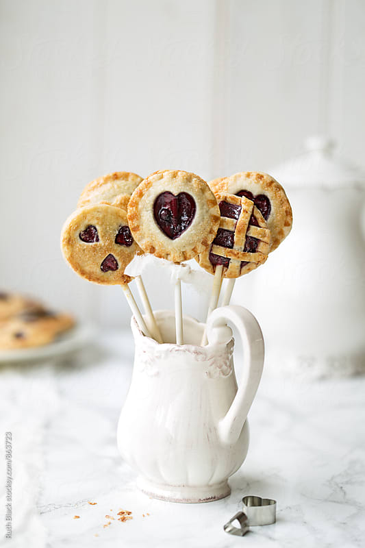 Valentine pie pops by Ruth Black for Stocksy United