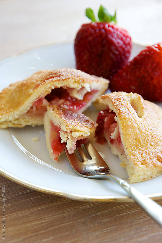 Strawberry Apple Hand Pie by Harald Walker for Stocksy United