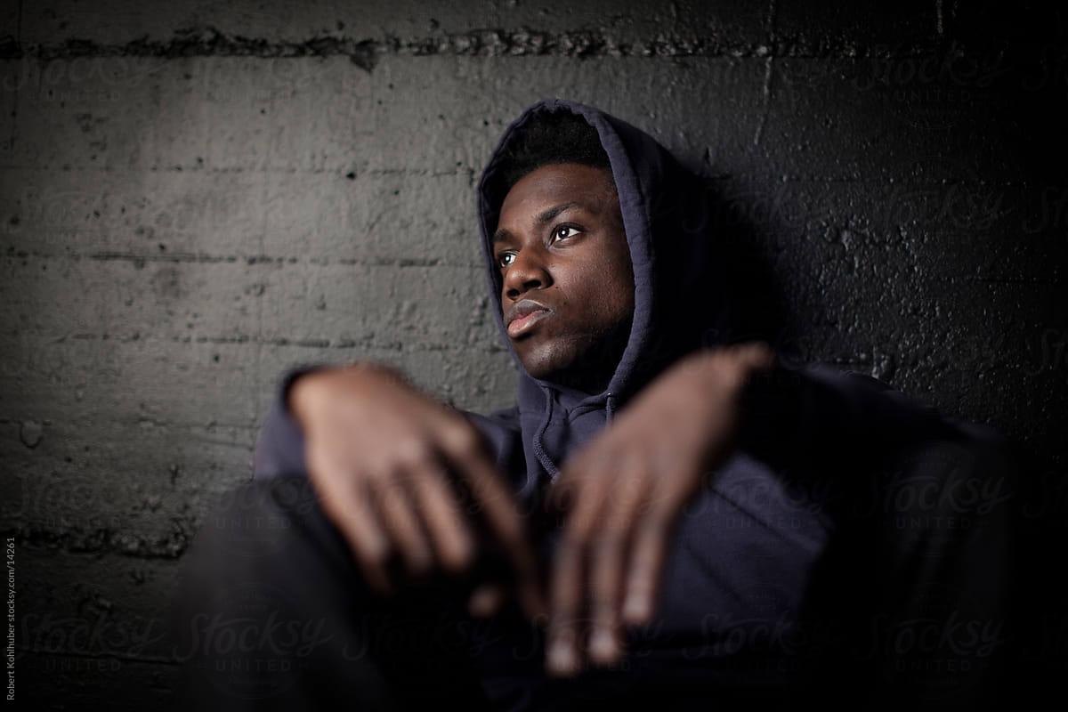 Image result for black sad man