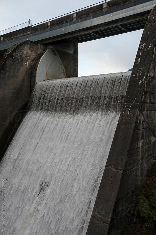Hydroelectirc Dam by Ronnie Comeau for Stocksy United