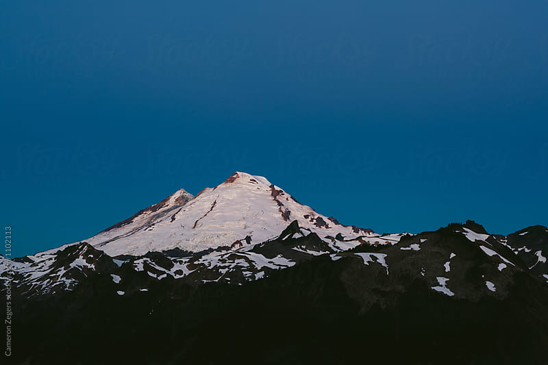 Mt Baker at twilight by Cameron Zegers for Stocksy United
