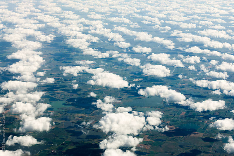 aerial view of clouds by RG&B Images for Stocksy United