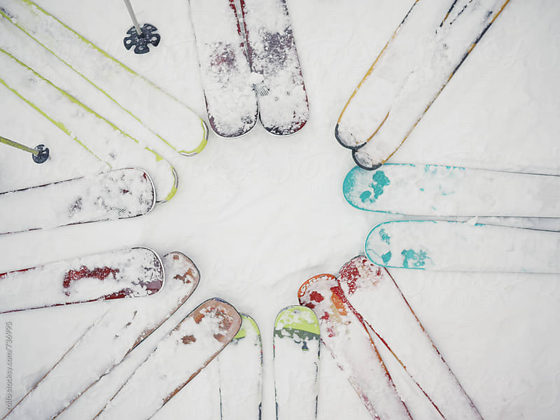 Ski on snow by rolfo for Stocksy United