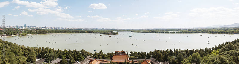 Panorama of the Summer Palace, Beijing by zheng long for Stocksy United