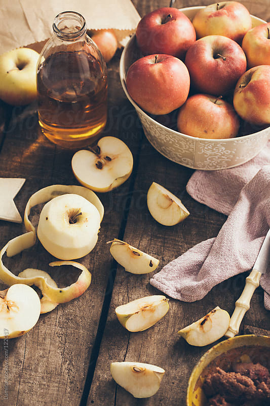 Organic Apples and Apple Juice by Lumina for Stocksy United